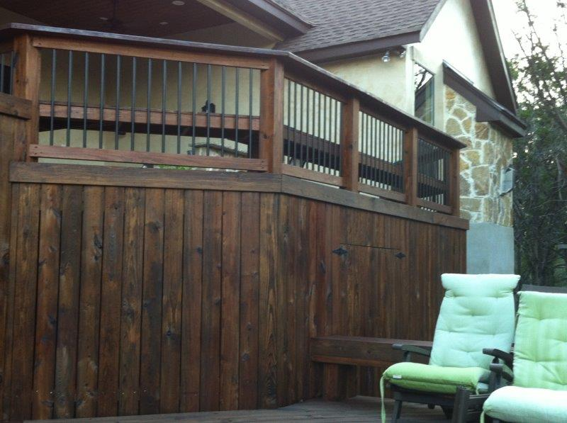 custom wooden deck builder