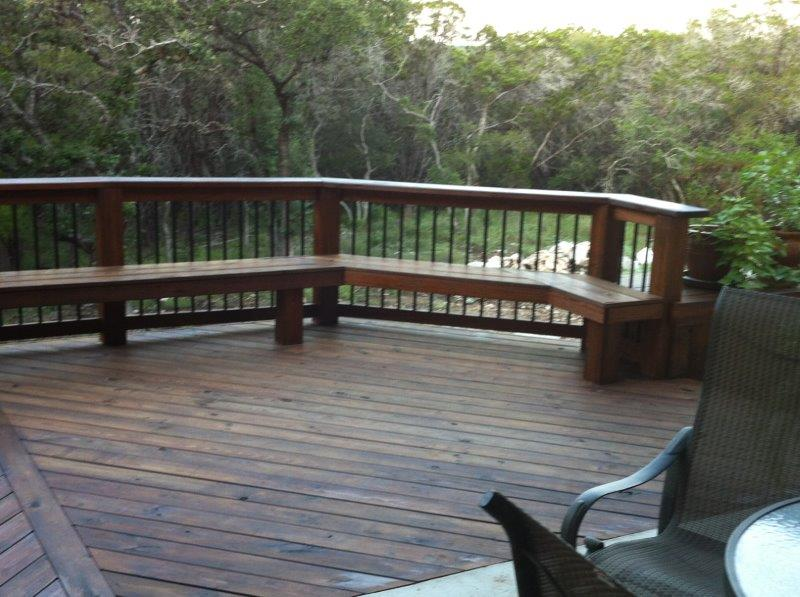 custom wooden deck building