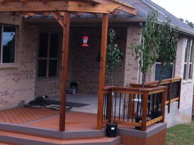 custom patio build